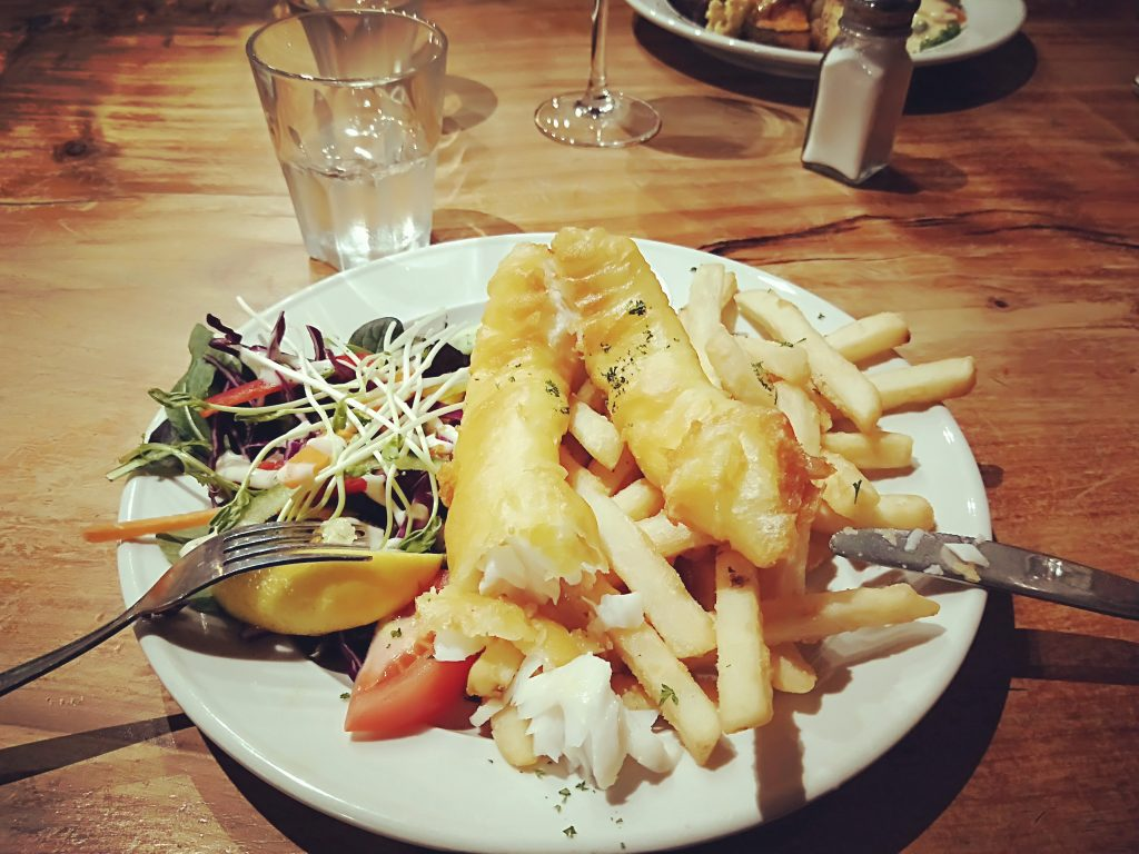 Cod and chips at Donegal House