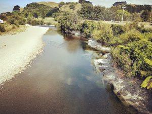 The old swimmin' hole on the Mangatainoka River.